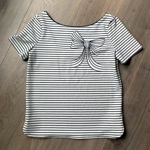 RW&CO Structured striped scoop neck top
